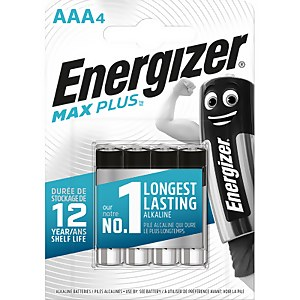 Energizer MAX PLUS Alkaline AAA Batteries - 4 Pack