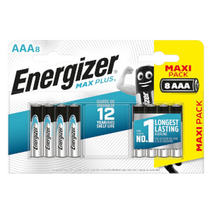 Energizer MAX PLUS Alkaline AAA Batteries - 8 Pack