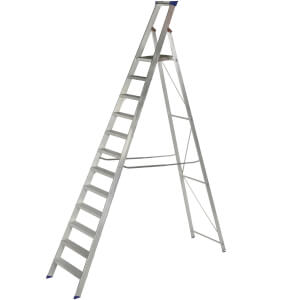 Werner MasterTrade Platform Step Ladder - 12 Tread
