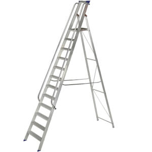 Werner Shop Step Ladder - 12 Tread