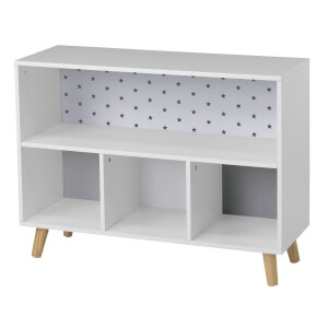 Kids Cube Storage Unit with Legs - White & Grey