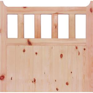 600 External Unfinished Redwood Gate - 1067 x 1067mm