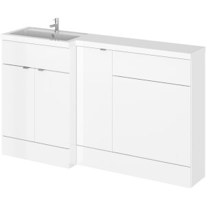 Balterley Dynamic 1500mm Left Hand WC Combination Unit - Gloss White