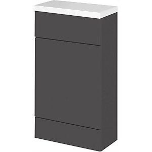 Balterley Dynamic 500mm Compact WC Unit With Top - Gloss Grey