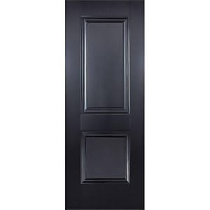 Arnhem Internal Primed Black 2 Panel Door - 838 x 1981mm