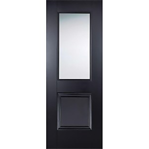 Arnhem Internal Glazed Primed Black 1 Lite 1 Panel Door - 838 x 1981mm