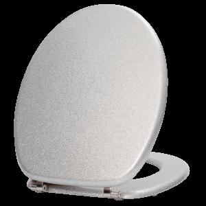 Overture Grey Glitter Toilet Seat