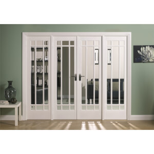 Manhattan Internal Glazed Primed White Room Divider - 2478 x 2031mm