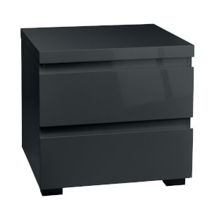 Puro 2 Drawer Bedside Cabinet - Charcoal