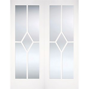 Reims Internal Glazed Primed White 5 Lite Pair Doors - 915 x 1981mm