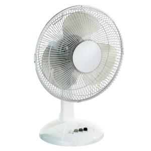 12 Inch Oscillating Desk Fan White