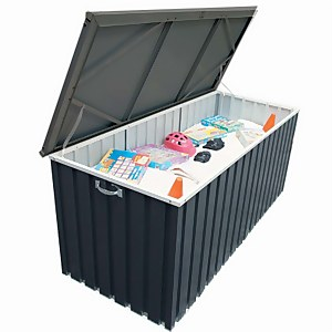 Sapphire Metal Cushion Storage Box 6 x 2 Grey