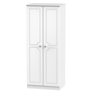 Florence White Ash 2 Door Wardrobe