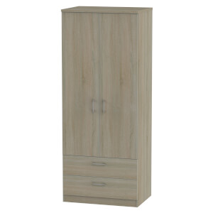 Amalfi Darkolino 2 Drawer Wardrobe