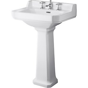 Balterley Harrington 3 Tap Hole Basin and Pedestal - 560mm