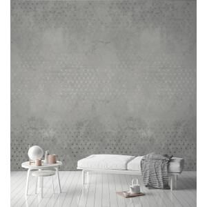 Grandeco Concrete Stars Grey Digital Wallpaper Mural