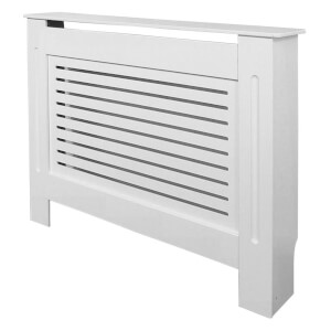 Horizontal White Radiator Cover - Small