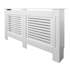 Horizontal White Radiator Cover - Extra Large