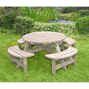 Anchor Fast Milldale Round Picnic Bench FSC