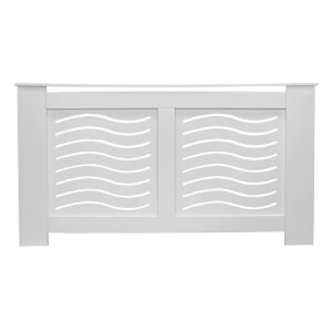 Wave White Radiator Cover - Large