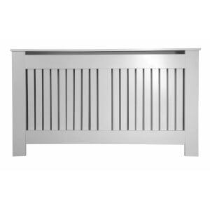 Vertical Grey Radiator Cover - Large