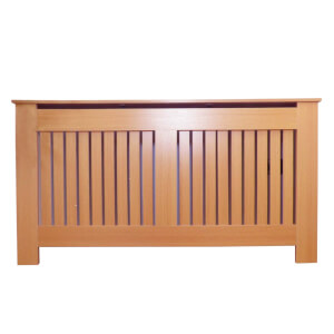 Vertical Oak Radiator Cover - Large