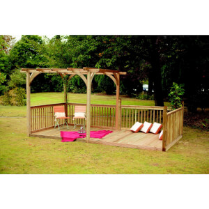 Forest Ultima Pergola and Decking Kit - 16x8ft