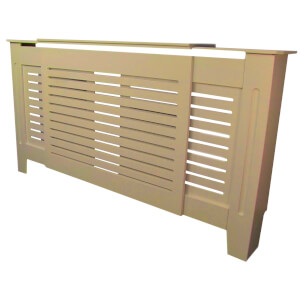 Horizontal Unpainted Radiator Cover - Adjustable