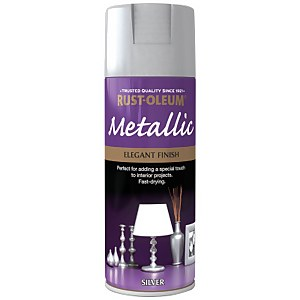 Rust-Oleum Silver - Metallic Spray Paint - 400ml