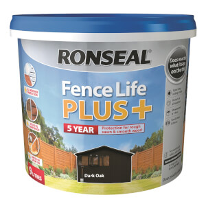 Ronseal Fence Life Plus 9L - Dark Oak