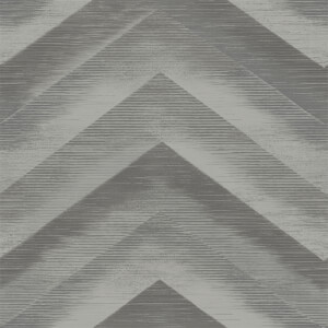 Holden Decor Cascade Plain Textured Metallic Charcoal and Silver Wallpaper