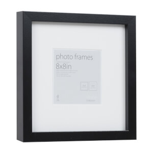 Photo Frame Black 8 x 8 with 4 x 4 Mount Aperture