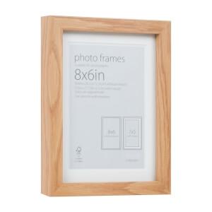 Photo Frame Oak 8 x 6 with 7 x 5 Mount Aperture