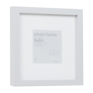 Photo Frame Grey 8 x 8 with 4 x 4 Mount Aperture