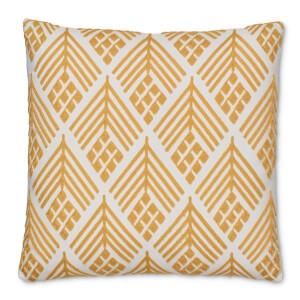 Embroidered Crewel Work Cushion - Ochre
