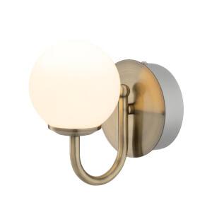 Victoria 6w Antique Brass LED Bathroom Wall Light
