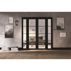 Soho Room Divider W6 - Black - 2031 x 1904 x 35mm