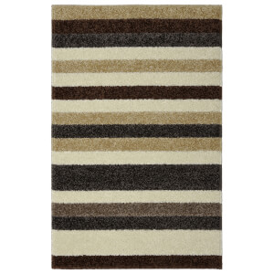 Sofia Stripe Washable Mat - Beige & Cream