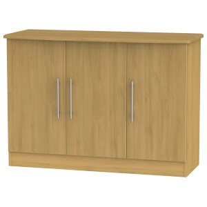 Siena 3 Door Sideboard - Modern Oak