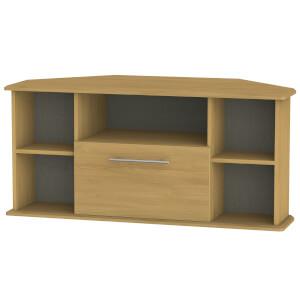 Siena Corner TV Unit - Modern Oak