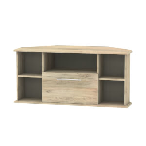 Siena Corner TV Unit - Bordeaux Oak