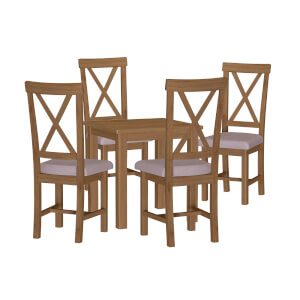 Newlyn 4 Seater Dining Set - Oak