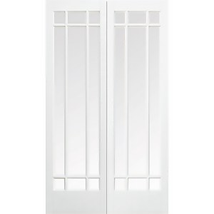 Manhattan - Glazed White - Primed Internal Door - 1981 x 1219 x 40mm