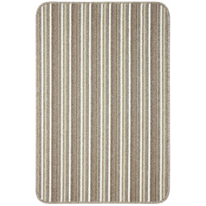 Java washable stripe mat -Cream
