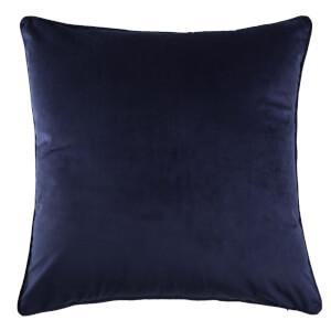 Large Plain Velvet Cushion - Navy
