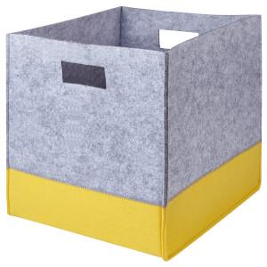 Compact Cube Felt Insert - Grey & Yellow