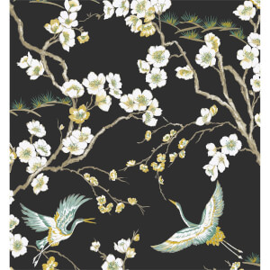Sublime Japan Black & Green Wallpaper