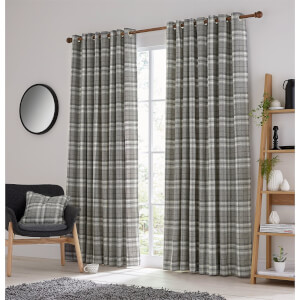 Helena Springfield Harriet Lined Curtains 66 x 72 - Charcoal