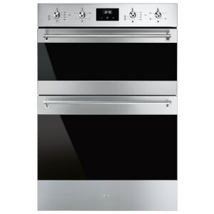 Smeg DUSF6300X 60cm Classic Stainless Steel and Eclipse Glass Double Under Counter Oven