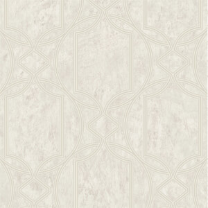 Boutique Deco Geo Ecru Wallpaper